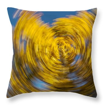 Twisted Colors Throw Pillow