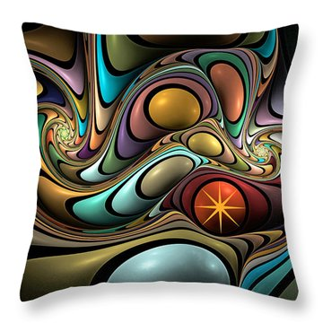 Twisted Throw Pillow by Kim Redd