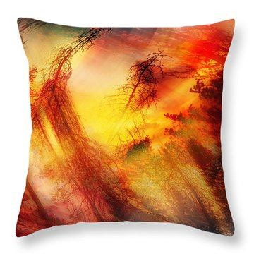 Twisted Lemonade Throw Pillow by Janie Johnson