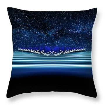 Twisted Light In Space 2 Throw Pillow