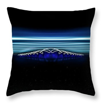 Twisted Light In Space Throw Pillow