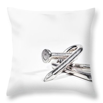 Twisted Nails Throw Pillow