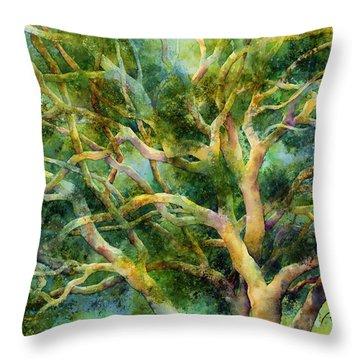 Twisted Oak Throw Pillow