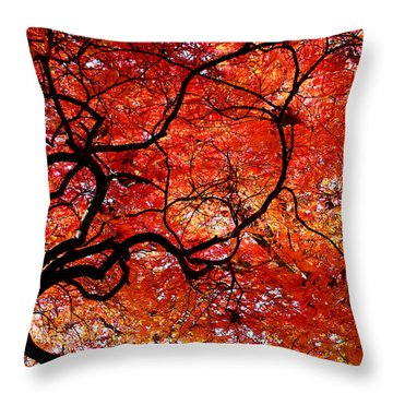 Twisted Red Throw Pillow by Colleen Kammerer