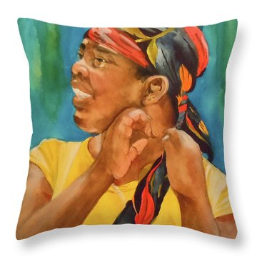 Twisted Sister Throw Pillow by Jean Blackmer
