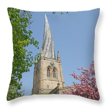 Chesterfield's Twisted Spire Throw Pillow