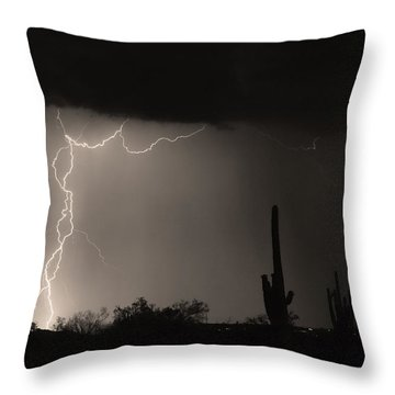 Twisted Storm - Sepia Print Throw Pillow by James BO  Insogna