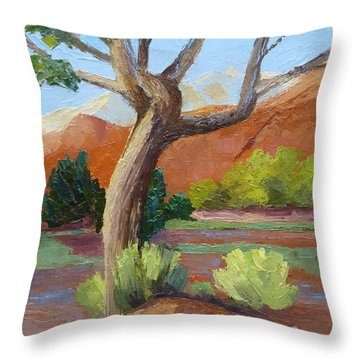 Twisted Throw Pillow by Susan Woodward