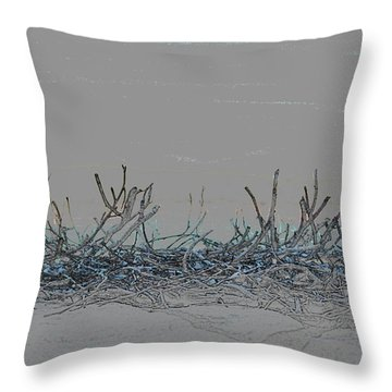 Throw Pillow featuring the digital art Twisted Vines by Ellen Barron O'Reilly