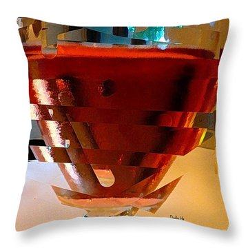 Twisted Wine Glass Throw Pillow