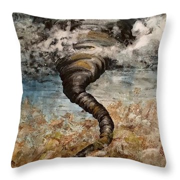 Twister On The Colorado Plains Throw Pillow