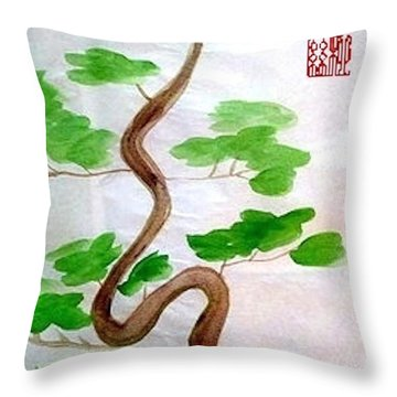 Twists And Turns Of Life Throw Pillow