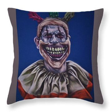 Twisty The Clown  Throw Pillow