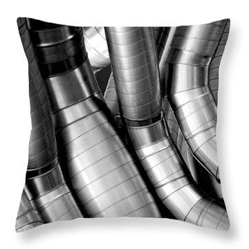 Twisty Tubes Throw Pillow