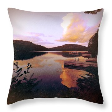 Twitchell At Sunset Throw Pillow