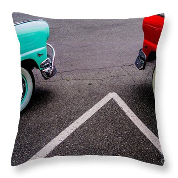 Throw Pillow featuring the photograph Two 1958 Ford Crown Victorias by M G Whittingham