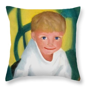 Two And A Half Throw Pillow by Patricia Cleasby