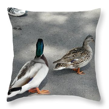 Two And Two Throw Pillow by Valerie Ornstein