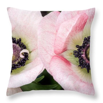 Two Anemones Throw Pillow