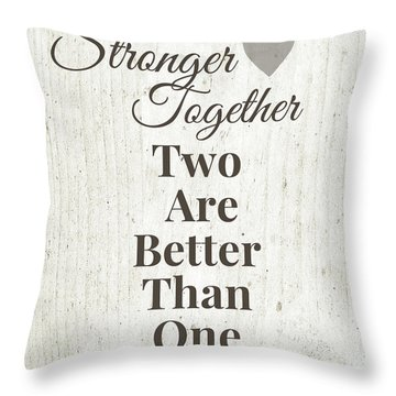 Two Are Better Than One- Art By Linda Woods Throw Pillow