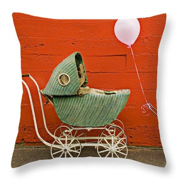 Two Baby Buggies  Throw Pillow