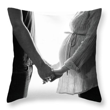 Two Becomes Three Throw Pillow