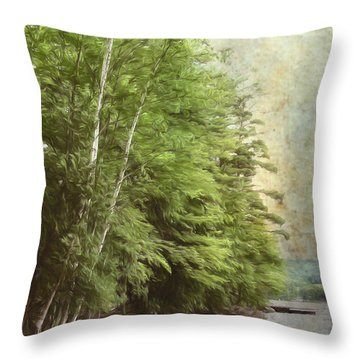 Two Birches Throw Pillow