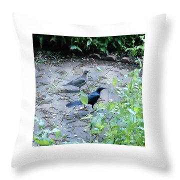 Throw Pillow featuring the photograph Two Birds by Felipe Adan Lerma