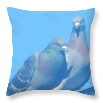 Two Birds In Spring Throw Pillow