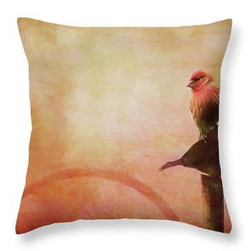Two Birds In The Mist Throw Pillow