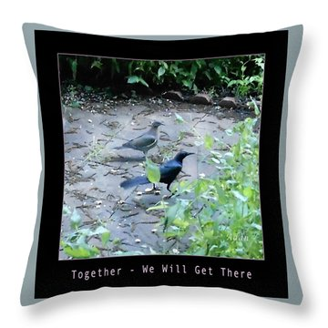 Throw Pillow featuring the photograph Two Birds Pink by Felipe Adan Lerma