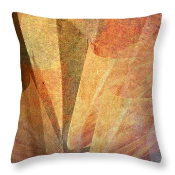 Throw Pillow featuring the digital art Two Blooms For Money by Jean Moore