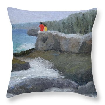 Two Brothers Throw Pillow