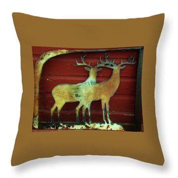 Two Bucks 1 Throw Pillow