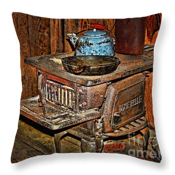 Two Burner Throw Pillow