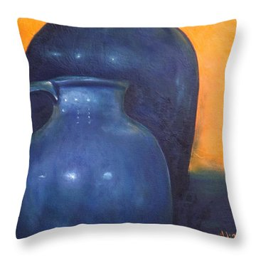 Two Ceramic Pots Throw Pillow
