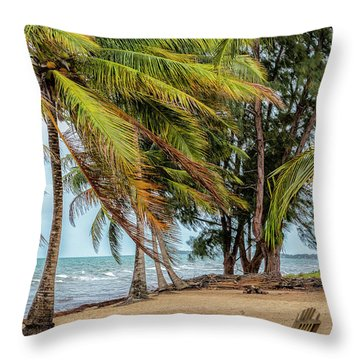 Two Chairs In Belize Throw Pillow