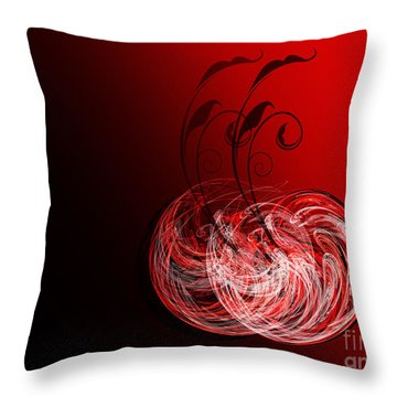 Two Cheery Cherries Throw Pillow