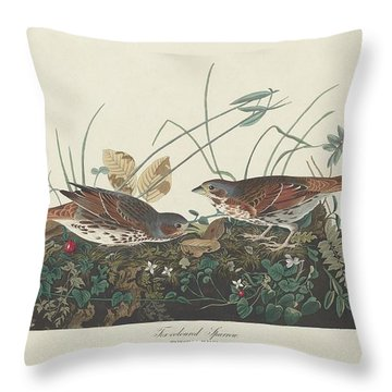 Two-colored Sparrow Throw Pillow