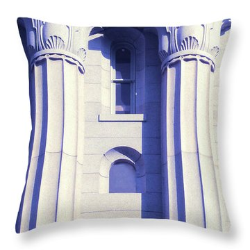 Two Columns Throw Pillow