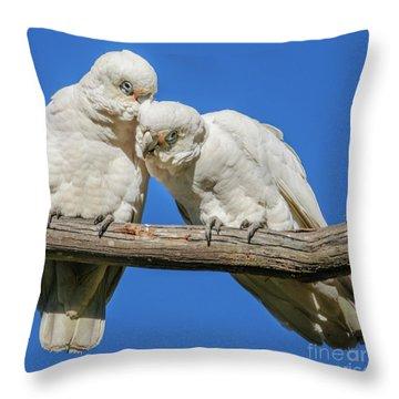 Two Corellas Throw Pillow