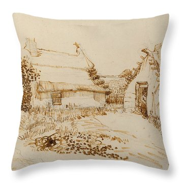 Two Cottages At Saintes Maries De La Mer Throw Pillow