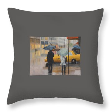 Two Curbside Throw Pillow