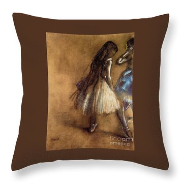 Two Dancers Throw Pillow by Degas