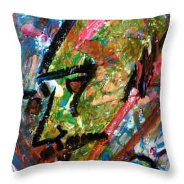 Two Dimenssional Head Throw Pillow