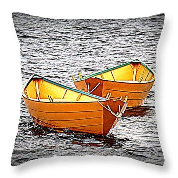 Two Dories Throw Pillow