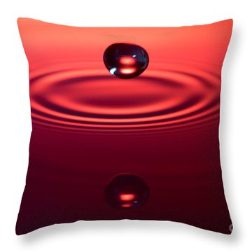 Two Drops And A Ripple Throw Pillow