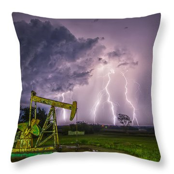Two Ellements  Throw Pillow