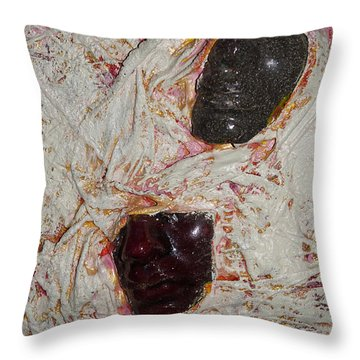 Two Faces Throw Pillow by Gallery Messina