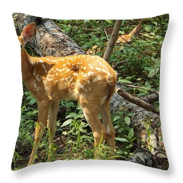 Two Fawn Throw Pillow